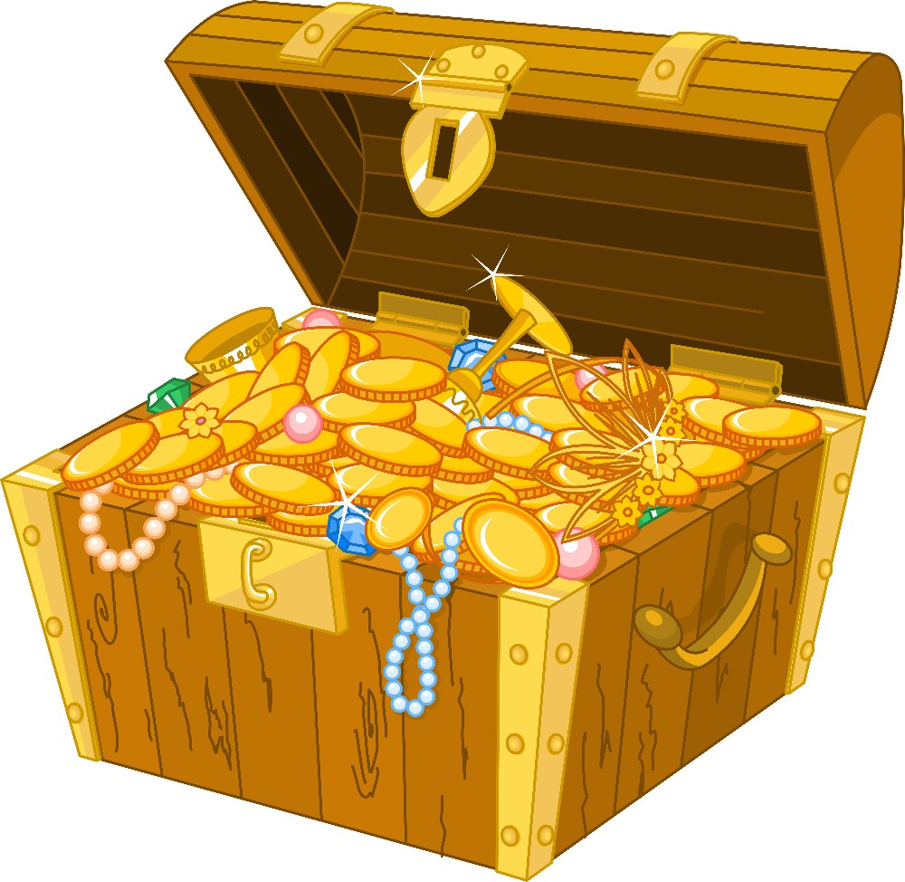 Cartoon Treasure Chest small file size