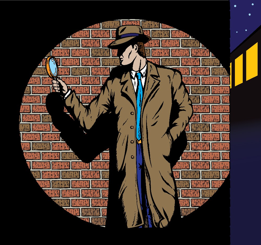 Male Cartoon Detective small file size